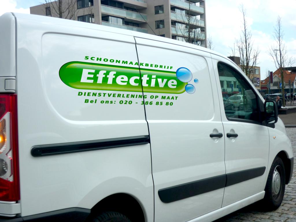 Schoonmaakbedrijf Effective werkbus